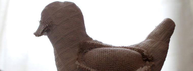 Uccellino di stoffa in stilecountry